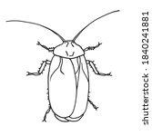 cockroach pest  contour vector... | Shutterstock .eps vector #1840241881