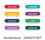 set of different colorful... | Shutterstock .eps vector #1840257307