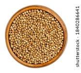 coriander seeds in a wooden...   Shutterstock . vector #1840286641