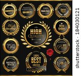 premium quality golden... | Shutterstock .eps vector #184030121