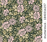 vector seamless floral pattern...   Shutterstock .eps vector #1840316257