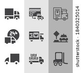 simple collection of cab... | Shutterstock . vector #1840325014