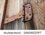 Old And Rusty Door Hinge...