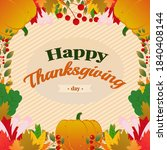 thanksgiving background with... | Shutterstock .eps vector #1840408144