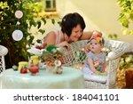 summer holiday garden at the... | Shutterstock . vector #184041101
