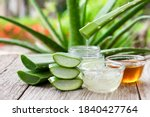 Aloe Vera Leaf With Aloevera...