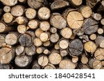 Timber Stack  Ends Of Logs For...