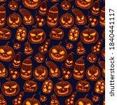 seamless pattern of halloween...   Shutterstock .eps vector #1840441117