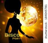 disco party. vector... | Shutterstock .eps vector #184045781