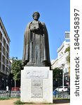 Small photo of Tunis, Tunisia - February 20 2019: Statue of Ibn Khaldun, medieval Arab scholar of Islam, history and sociology (1332-1406)