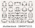 set of hand drawn oriental...   Shutterstock .eps vector #1840471111