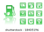 10green eco icons  see also... | Shutterstock .eps vector #18405196
