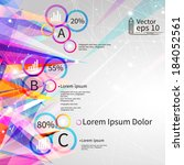 infographics with abstract... | Shutterstock .eps vector #184052561