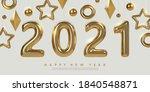 2021 new year banner design....   Shutterstock .eps vector #1840548871