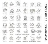 hobbies and interest detailed... | Shutterstock .eps vector #1840564267