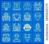 Rastafari  Alien Icon Set...