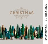 christmas horizontal border... | Shutterstock .eps vector #1840652827