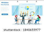 group of businessman and woman... | Shutterstock .eps vector #1840655977