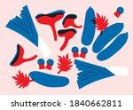 abstract flat vector vegetables ... | Shutterstock .eps vector #1840662811