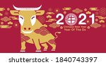 chinese new year  2021  year of ... | Shutterstock .eps vector #1840743397