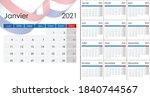 simple calendar 2021 on french...   Shutterstock .eps vector #1840744567