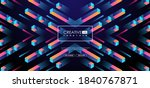 geometric 3d shapes  cubes and... | Shutterstock .eps vector #1840767871