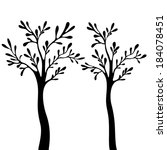vector tree with branches in... | Shutterstock .eps vector #184078451