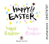 happy easter | Shutterstock .eps vector #184078787