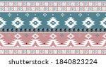 seamless vector tribal border... | Shutterstock .eps vector #1840823224