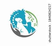 horse  dog  cat animal logo... | Shutterstock .eps vector #1840824217