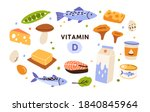 collection of vitamin d sources.... | Shutterstock .eps vector #1840845964