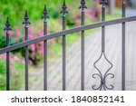 Forged Iron Fence  Grey Painted ...