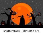 grim reaper silhouette on the...   Shutterstock .eps vector #1840855471