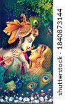 Beautiful Hindu God Radha...