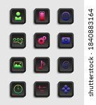 set of matte icons for apps....