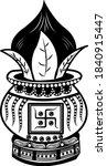 indian wedding clip art kalash... | Shutterstock .eps vector #1840915447