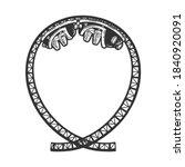 roller coaster sketch engraving ... | Shutterstock .eps vector #1840920091