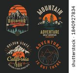 collection of vintage explorer  ... | Shutterstock .eps vector #1840927834