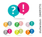 question and answer set | Shutterstock .eps vector #184093751