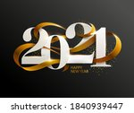 new years 2021. greeting card... | Shutterstock .eps vector #1840939447
