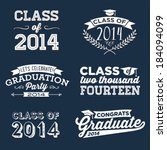 Graduation Vector Set | Let's Celebrate, Class of 2014, Congrats Grad, College Graduation, High School Graduation, Congratulations Graduate