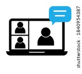 video conference icon. people... | Shutterstock .eps vector #1840954387