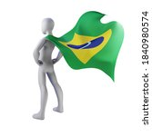 superhero 3d render with brazil ... | Shutterstock . vector #1840980574
