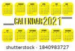 calendar for the year 2021.... | Shutterstock .eps vector #1840983727