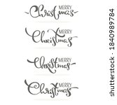merry christmas  decoration  ... | Shutterstock .eps vector #1840989784
