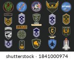 set of military and army badge...   Shutterstock .eps vector #1841000974