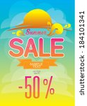 summer is over but sale just... | Shutterstock .eps vector #184101341