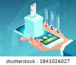 online voting concept.... | Shutterstock .eps vector #1841026027