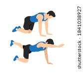 man doing bird dog exercise to...   Shutterstock .eps vector #1841038927