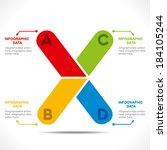 creative  alphabet 'x'  info... | Shutterstock .eps vector #184105244